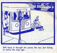 A Vintage Illustrated Guide From 1969, On Safe Bicycle Riding  - DesignTAXI.com