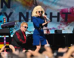 Sweet gesture: The two singers got together put the show together as a way of thanking the city of West Hollywood for their support of Elton's AIDS foundation