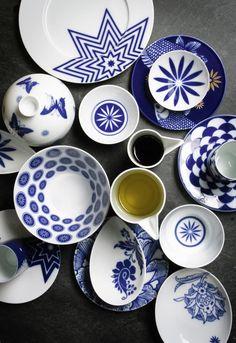 SIEGER by FÜRSTENBERG & Japanese tableware....blue u0026 white | Some of my favourite things ...