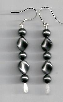 Funky Style Glass Pearl Dangle Earrings