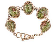 Timna Jewelry Collection (Tm) Unakite Copper Bracelet