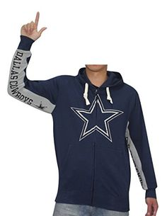NFL Dallas Cowboys Mens Athletic Warm ZipUp Hoodie Vintage Look S Dark Blue ** Check this awesome product by going to the link at the image.