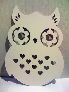 laser cut owl Owl Crafts, Vinyl Crafts, Diy And Crafts, Arts And Crafts, Kirigami, Owl Always Love You, Scroll Saw Patterns, Stencil Designs, Paper Cards