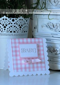 Baby girl card using One in a Million from Stampin' Up! - Stampin Up Demonstrator Michelle Last