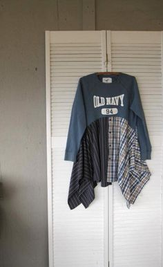 Patchwork Lagenlook Tunic upcycled clothing by lillienoradrygoods, $79.50