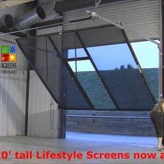 sliding garage door screen panels