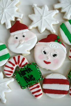 Santa Cookies   Dixieland Sweets