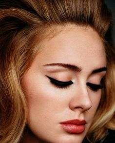 "Adele recently released her latest album ""25"". Now we're all wondering when she's going to drop a serious winged cat-eye tutorial."