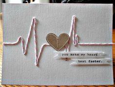 tarjeta de amor con latido Más