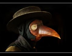 """OP: """"The Plague Doctor fourteenth century´s Europe, this outfit was worn by the doctors dealing with the very dangerous disease killing a significant part of Europe´s population back then. I took the picture at the science museum here in Aarhus"""""""