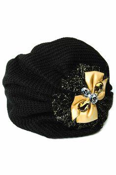 Crochet Stone Headband 2 -Black