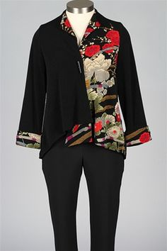 I.C. Collection - Water Blossom Jacket - Black