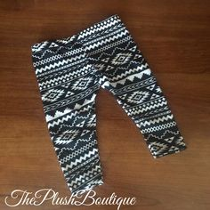 Black And White Aztec Baby Leggings by Theplushboutique on Etsy https://www.etsy.com/listing/234679812/black-and-white-aztec-baby-leggings