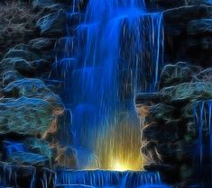Beauti of Animation. Fractal Art, Fractals, Animation, Waterfall Wallpaper, Beautiful Places, Beautiful Pictures, Waterfall Paintings, Les Cascades, Gif Animé