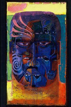 Whakapapa by Darcy Nicholas kp Modern Indian Art, Maori Art, Artist Art, New Zealand, Folk Art, Contemporary Art, Artists, Portrait, Model