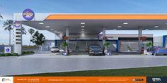 posto de gasolina em 3d Governador Valadares MG