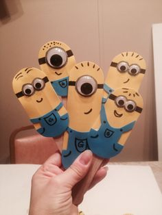 Popsicle Stick Minion Puppets by Rachel Walsh