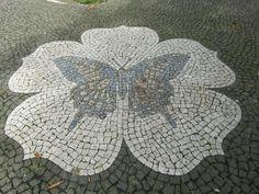 Angra do Heroísmo, Azores - Detail - Portuguese cobblestone pavement Pebble Mosaic, Pebble Art, Mosaic Tiles, Brick Paving, Paving Stones, Sky Garden, Mosaic Garden, Paving Pattern, Places In Portugal
