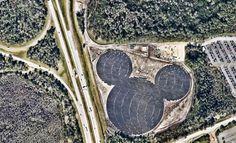 """Disney constrói usina solar em formato de Mickey """