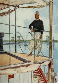 Thackeray, Lance (1869-1916) - The People of Egypt 1916, Nile Sailor. #nile, #egypt, #africa
