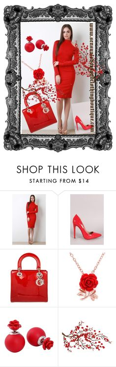 """""""In the Mood For Love"""" by sensualshoesandclothingboutique on Polyvore featuring Christian Dior and Brewster Home Fashions"""