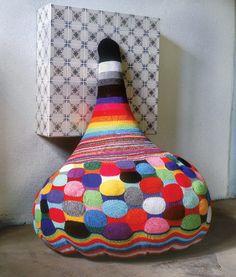 Joana Vasconcelos - #crochet and mixed media fiber artist - want this to be a bean bag