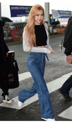 Check out Blackpink @ Iomoio Blackpink Outfits, Kpop Fashion Outfits, Blackpink Fashion, Korean Outfits, Casual Outfits, Fashion Looks, Korean Street Fashion, Stage Outfit, Korean Airport Fashion