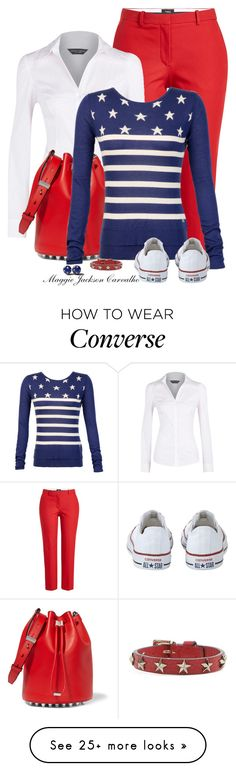 """""""Fourth of July!"""" by maggie-jackson-carvalho on Polyvore featuring Theory, Dorothy Perkins, Alexander Wang, Converse and RED Valentino"""