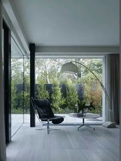 Study overlooking courtyard in cassel street house by BE Architecture