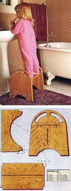 Kids Step Stool Plans - Children's Furniture Plans and Projects | WoodArchivist.com