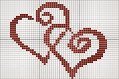 Simple and easy cross stitched hearts for Valentine