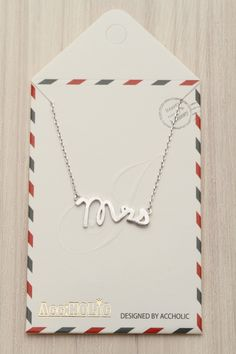 mrs necklace in silver