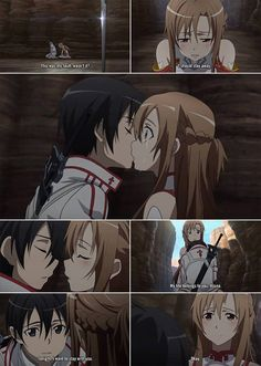 I most likely uploaded this a million times, but who cares!!! It's Asuna x Kirito <3 (first kiss)