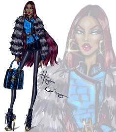 hayden williams, fashion, and fashion illustration image Hayden Williams, Fashion Illustration Sketches, Fashion Design Sketches, Art Sketches, Beautiful Sketches, African American Women, Black Is Beautiful, Fashion Pictures, Fashion Art