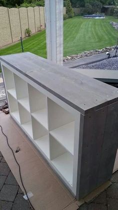 add legs to kallax shelf / legs on kallax shelf . add legs to kallax shelf . adding legs to kallax shelf Ikea Diy, Diy Furniture, Home, Ikea Hack, Furniture Hacks, Kallax Ikea, Ikea, Ikea Furniture, Storage