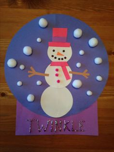 Image result for Snowman Craft Ideas for Preschool
