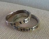 Sterling Silver Personalized Ring Band.  Custom.  Fun.  Message.  Eco Friendly.  Recycled Silver.  FREE Domestic Shipping. $22.00, via Etsy.
