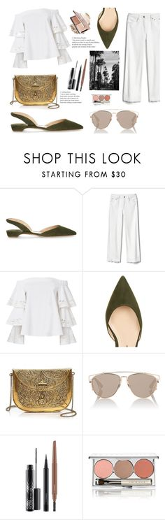 """""""Gold bag"""" by spencer-hastings-5 ❤ liked on Polyvore featuring Paul Andrew, Gap, Exclusive for Intermix, From St Xavier, Christian Dior, MAC Cosmetics and Chantecaille"""