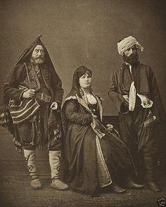 New 13x19 Photo - Studio Portrait of Bosnian peasants Ottoman Empire 1873