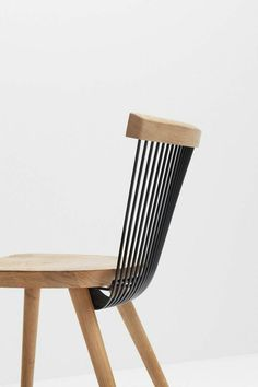 Holzstuhl mit Metall #chair #stuhl #chairdesign #designinspiration