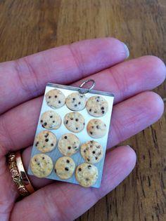 mini food jewelry baking sheet of chocolate by BonAppetitPetites, $10.00