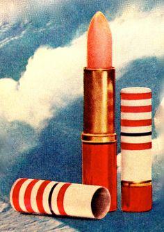 Bonne Bell 'Purse 'N Parka' Lipstick & Lip Gloss Combination, 1969 Bonne Bell, 80s Makeup, Lady Fingers, Cosmetic Packaging, Vintage Heart, Beautiful Mind, Lipstick Colors, Vintage Ads, Lip Gloss