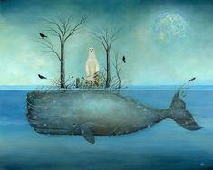 iCanvas icanvasart The Island Canvas Artwork By Neil Thompson Ocean Artwork, Canvas Artwork, Canvas Art Prints, Fine Art Prints, Sea Life Art, Sea Art, Underwater Art, Whale Art, Forest Art