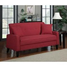 @Overstock - The Ellie sofa is transitionally designed featuring track arms with a button tufted back and two 18 inch throw pillows. The Engle sofa is covered in a durable linen-look fabric and features a handy lock system for easy assembly.http://www.overstock.com/Home-Garden/Portfolio-Ellie-Cherry-Red-Linen-Sofa/6493851/product.html?CID=214117 $435.39