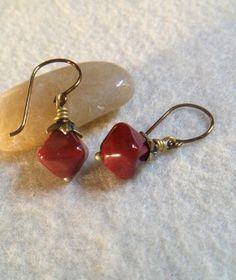 Handblown Glass EarringsGlass Dangle by LadonnaStudio on Etsy, $27.00