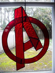 Avengers Stained Glass- this is why I need to learn to do stained glass!