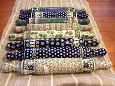 Polish Pottery rolling pins! Which one is your favorite? I personally love the second from the bottom. :) $58.50 each. Come visit us in Portland at 23rd + Hoyt or at Pike Place in Seattle!