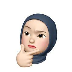 Emoji Wallpaper Iphone, Cute Wallpaper Backgrounds, Cute Cartoon Wallpapers, Emoji Photo, Instagram Emoji, Islamic Cartoon, Girl Emoji, Anime Muslim, Hijab Cartoon