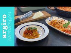 Μακαρόνια με σάλτσα ντομάτας Ναπολιτάνα από την Αργυρώ Μπαρμπαρίγου | Αυτή η κόκκινη σάλτσα είναι ιδανική και για κεφτέδες πίτσα και ό,τι άλλο αγαπάτε! Rice Pasta, Greek Recipes, Couscous, Japchae, Grains, Spaghetti, Food And Drink, Ethnic Recipes, Youtube