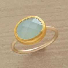 Nautilus Ring from Sundance -- the stone is a Peruvian chalcedony. Uh, ok.